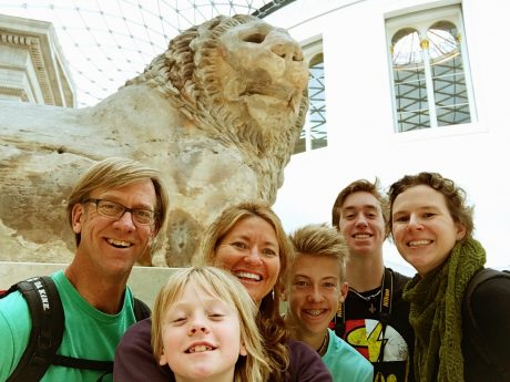 Posing with our friend, Antonia, in the British Museum.