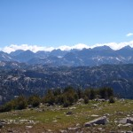 The view of the Wind River Range from Doubletop Mountain is among the best.