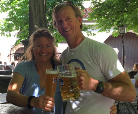 Prost! We have officially arrived in Germany! :) Jerry and I enjoyed beers at Hofbrauhaus