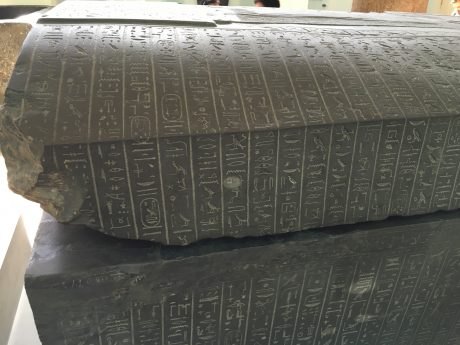 A sarcophagus is a box-like funeral receptacle for a corpse, most commonly carved in stone, and displayed above ground, though it may also be buried.