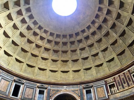 The Pantheon's Dome, which is 2,000 years old, remains the largest unreinforced concrete dome in the world.