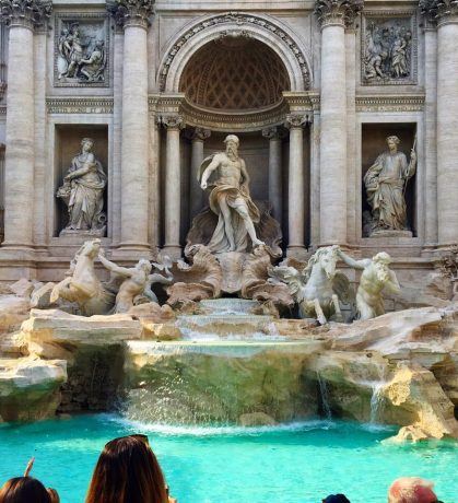 Trevi Fountain, one of the world's most famous fountains.
