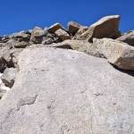 The last scramble to the summit of Wind River Peak.