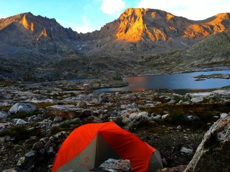 Our campsite was stellar. Evening alpenglow.