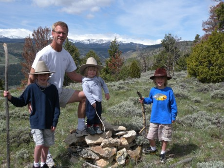 My husband, Jerry, with our three young sons, Wolf, Fin and Hayden, ages 9, 2 and 7. We lead an active, outdoorsy life. I'd like to keep it that way.