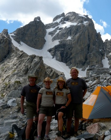 At home at JHMG's Corbet High Camp, donning our official Wyoming Climr shirts courtesy our friends at Bridge Outdoors.
