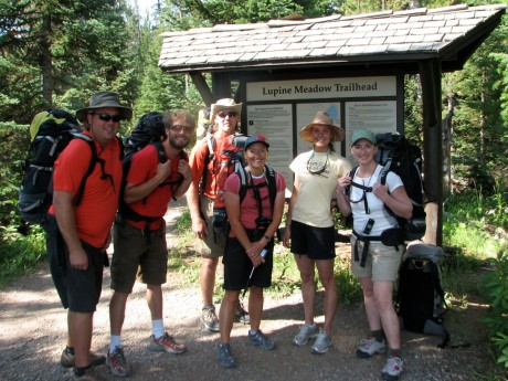Our team. From left, Jamie Johnson, JHMG guide Nate Opp, Jeff Johnson, me, JHMG guide Julia Niles, and Kathy Kloewer.