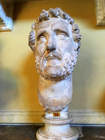 I had to get this photo since I am fan of this guy, Marcus Aurelius and his works.