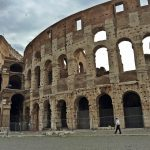 Rome's Colosseum, which opened in 80 A.D., and is the largest amphitheater ever built.