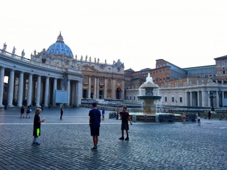 Hanging out in St. Peter's Square.