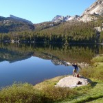 My husband, Jerry, at Big Sandy Lake, about six miles into our hike.