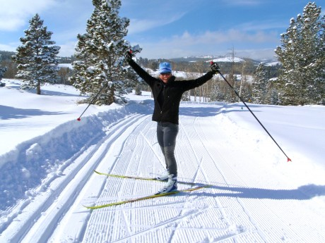 Me, frolicking at Beaver Creek Nordic Area, on South Pass, in the southern Wind River Range, above Lander, WY.