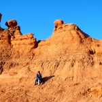 Our boys had fun climbing the formations near our campsite in Goblin Valley.