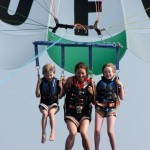 Parasailing was an exhilarating experience.
