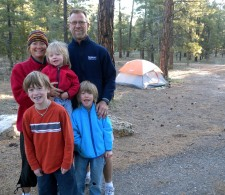 Camping at Grand Canyon.