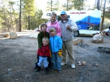 Our boys w/Mommom & Poppop at Grand Canyon.