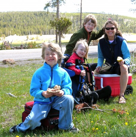 Stopping for a picnic on a recent Yellowstone trip.