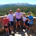 Jerry, our sons and I on a hike in our backyard.