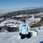 Snowboarding at Grand Targhee, Feb. 2009