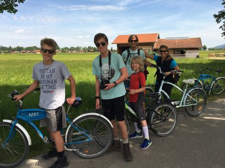 We LOVED riding bikes in the Bavarian countryside!