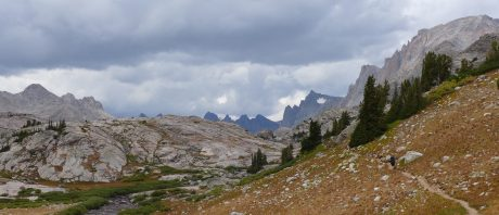 Kathy, heading toward Titcomb Basin, and specifically, Indian Basin.