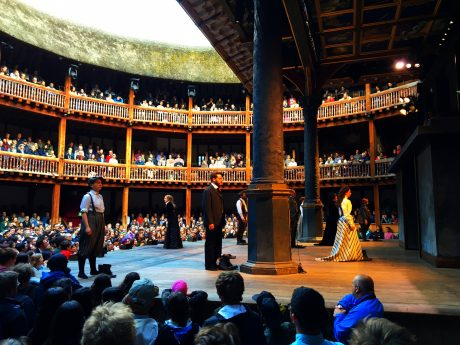 We loved watching The Taming of the Shrew in the historic, open air Globe Theatre.