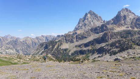 Jerry, looking tiny on the expanse that is Hurricane Pass.
