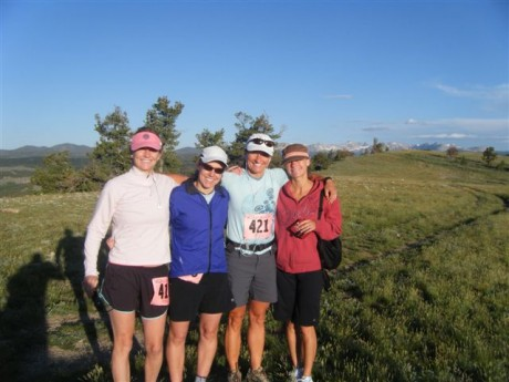 The camaraderie of the Wild Iris trail run is great. Pictured here are Rachel Richards, Holly Copeland, me, and my sister, Amber Hollins.