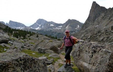 Me, on start of Jackass Pass, along the Continental Divide.