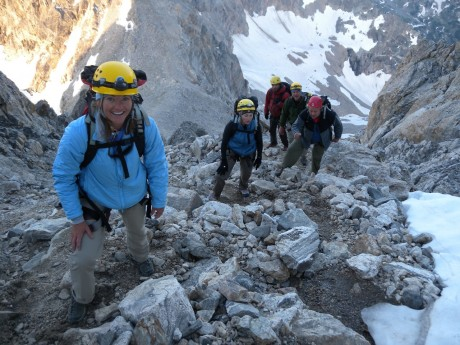 On our march upward toward the Grand Teton's summit.
