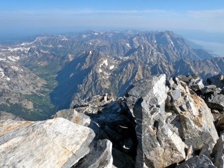 The sights from the Grand Teton's summit are amazing.