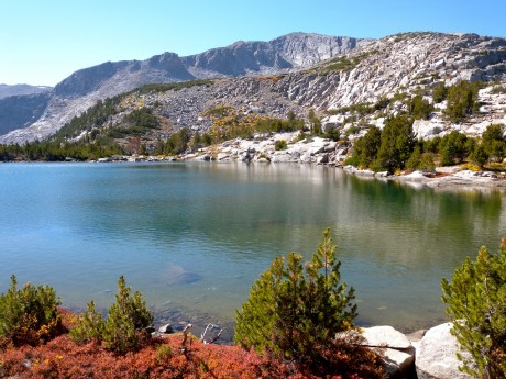 One of several beautiful lakes we hiked by.