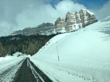 Beautiful scenery on Togwotee Pass, along the Continental Divide, on my way to Jackson Hole.
