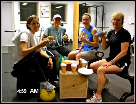 My early morning workout friends, Sarah Sweeney, Misty Atnip and Leslie Calkins.