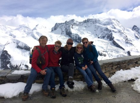 Family photo on the top of the Gornergrat.