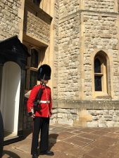 A guard in front of the Jewel House, at the Tower of London.