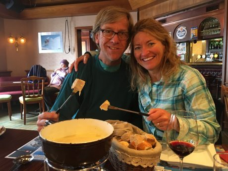 OMG, we finally got to experience firsthand, Switzerland's cheese fondue. It was worth the wait! Incredibly yummy.