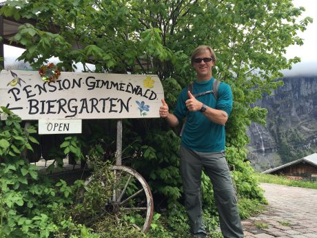 Jerry, two thumbs up for the biergarten that was not a mirage, but a reality!