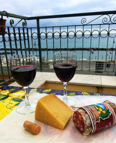 The wine, cheese and salami in Italy is to die for. Total bliss for me. :)