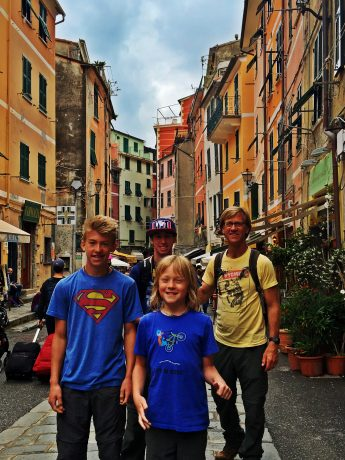 My guys, in Vernazza.