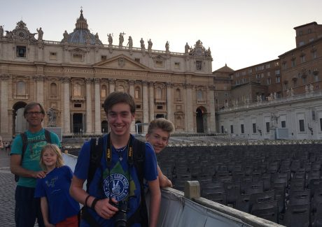 My guys, in front of St. Peter's Basilica.