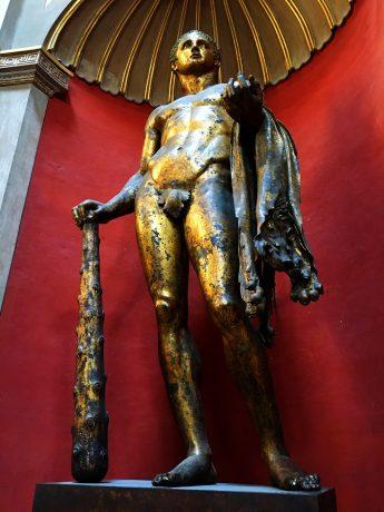 A magnificent bronze statue representing Hercules.