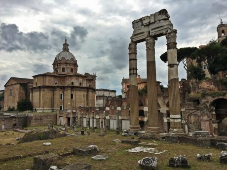 Remnants of the Roman Forum.