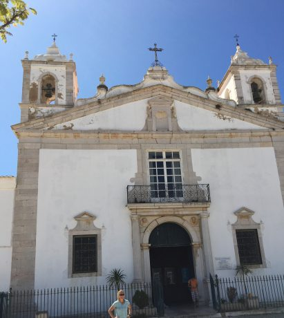 A beautiful church in Lagos, Portugal, the Ingreja Santa Maria.
