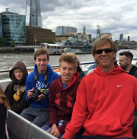 Jerry and the boys on our River Thames Tour.
