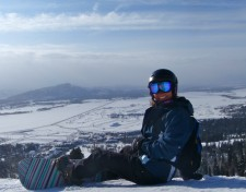 Getting ready for my first run at Jackson Hole Mountain Resort last Friday.