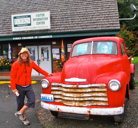 With Bella's truck, of Twilight fame, in Forks, WA.