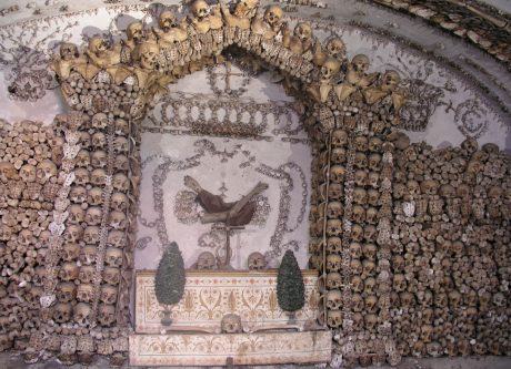 One of the crypts we toured.
