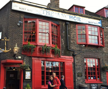 Jerry and I, in front of the Anchor Bankside, a pub in the London that is 401 years old!