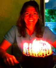 "OMG, check out the ""glow"" on my face created by the 41 candles! Someone call 911!"